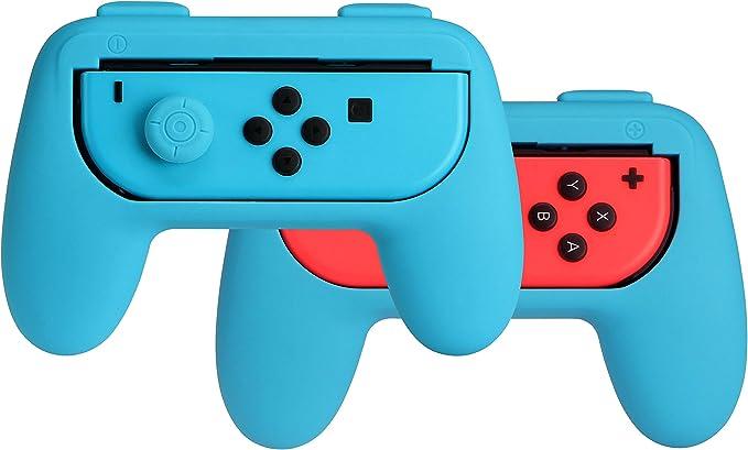 AmazonBasics - Kit de empuñaduras para mandos Joy-Con de Nintendo Switch - Azul: Amazon.es: Videojuegos