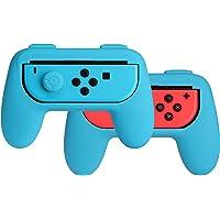 AmazonBasics - Kit de empuñaduras para mandos Joy-Con de Nintendo Switch - Azul