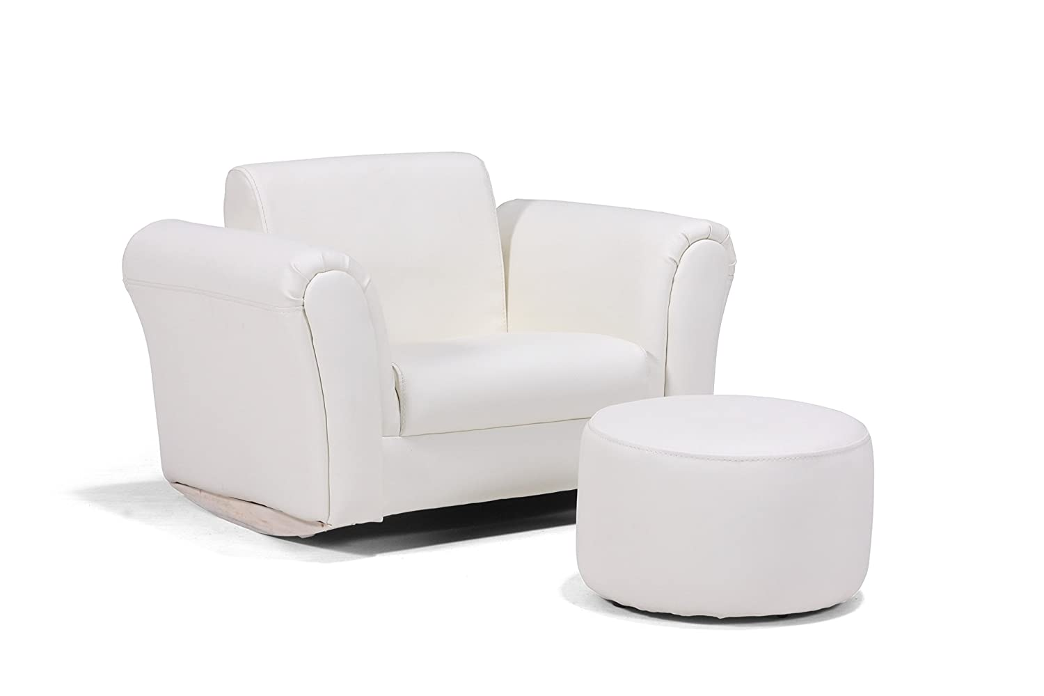 CREAM PU LEATHER LAZYBONES KIDS TWIN SOFA Chair//Seat//Armchair//Sofa for Children//Childs LITTLE DEVILS DIRECT