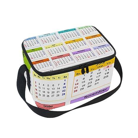 11ad809a0dd5 Amazon.com: Lunch Tote 2019 Calendar Mens Insulated Lunch Bag Zipper ...