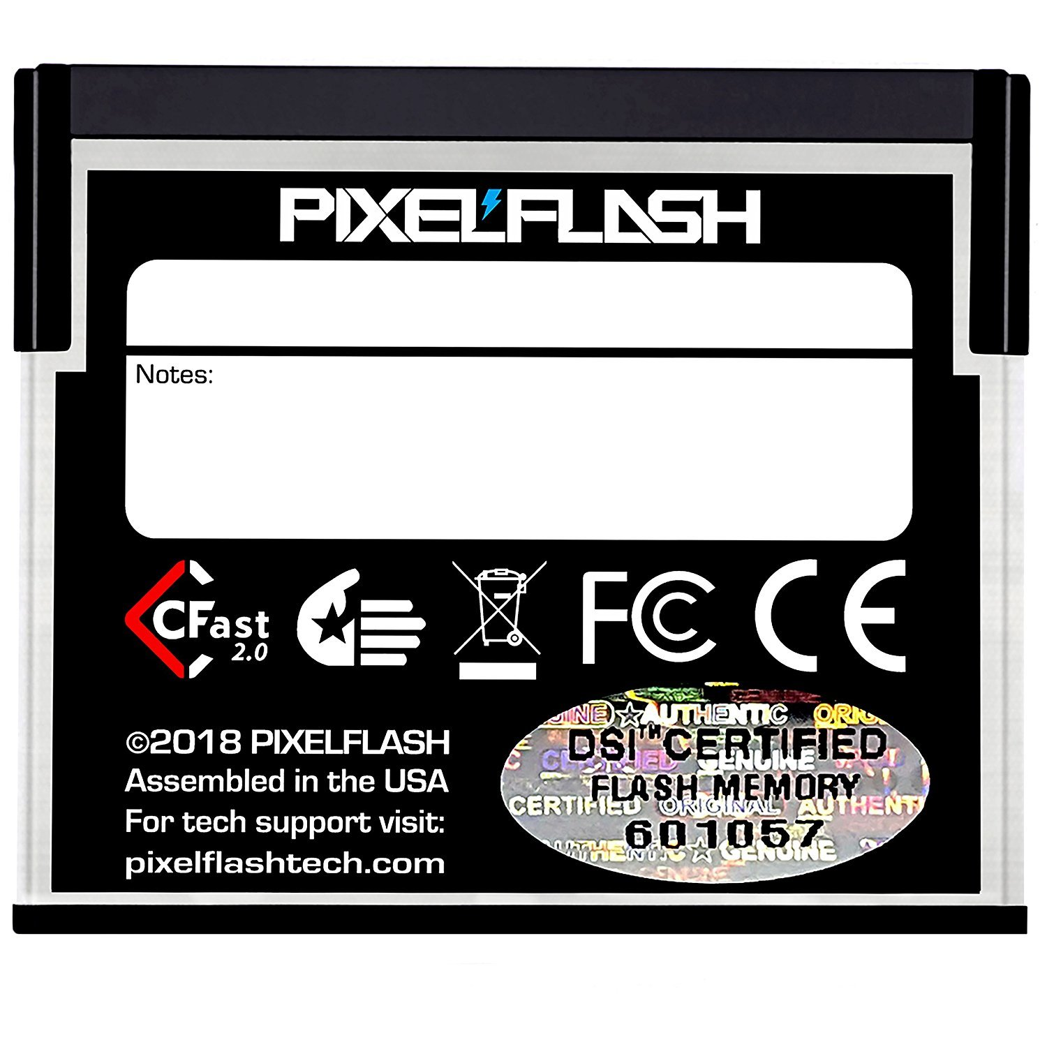 PixelFlash HyperCore CFast 2.0 Non-Stop Memory Card 3600X up to 560MB/s SATA III C Fast for Leica URSA Alexa Mini Canon, Metallic (512 GB)