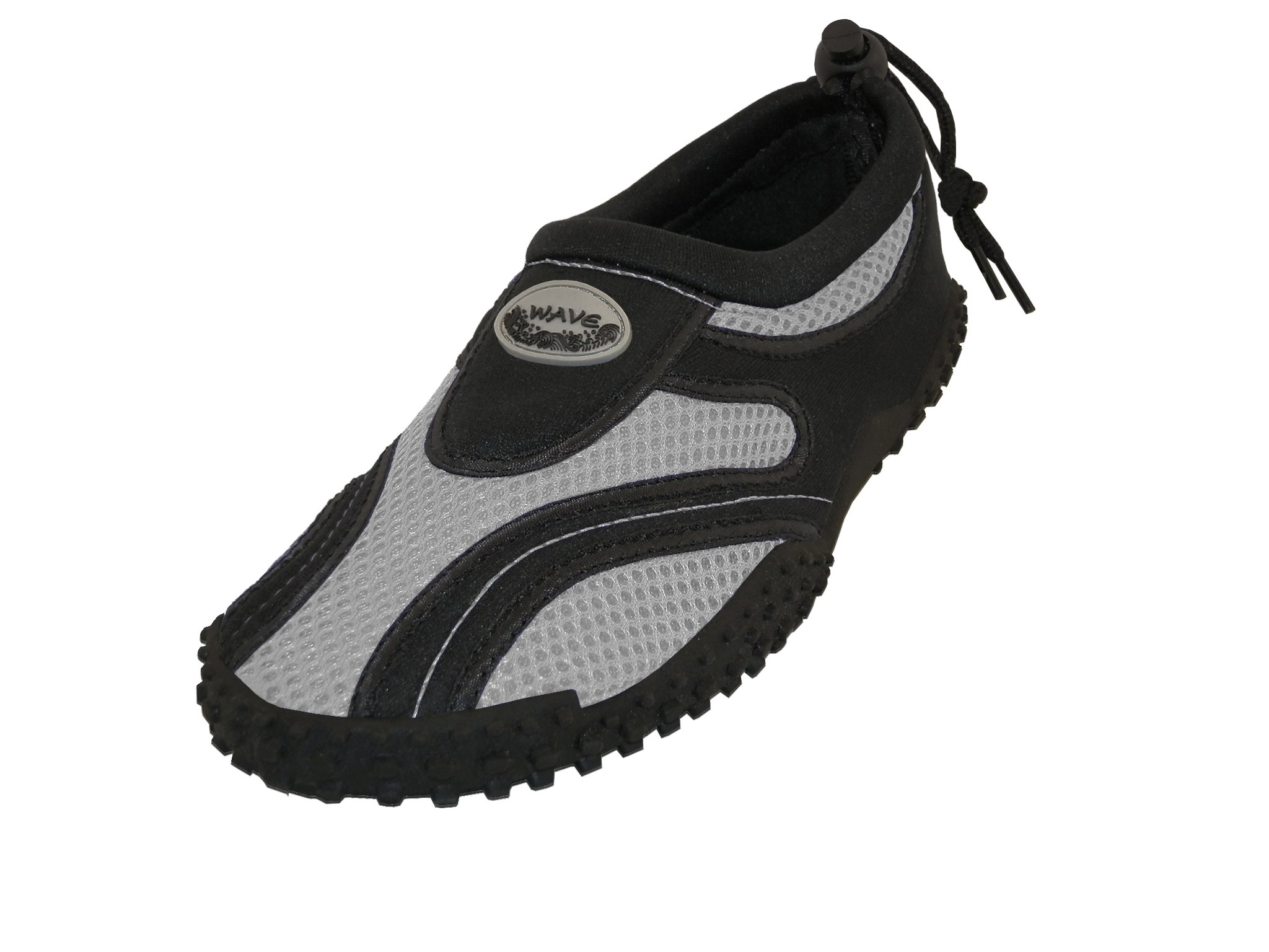 Wave Men's Waterproof Water Shoes, Black/Grey, 10 D(M) US by The Wave