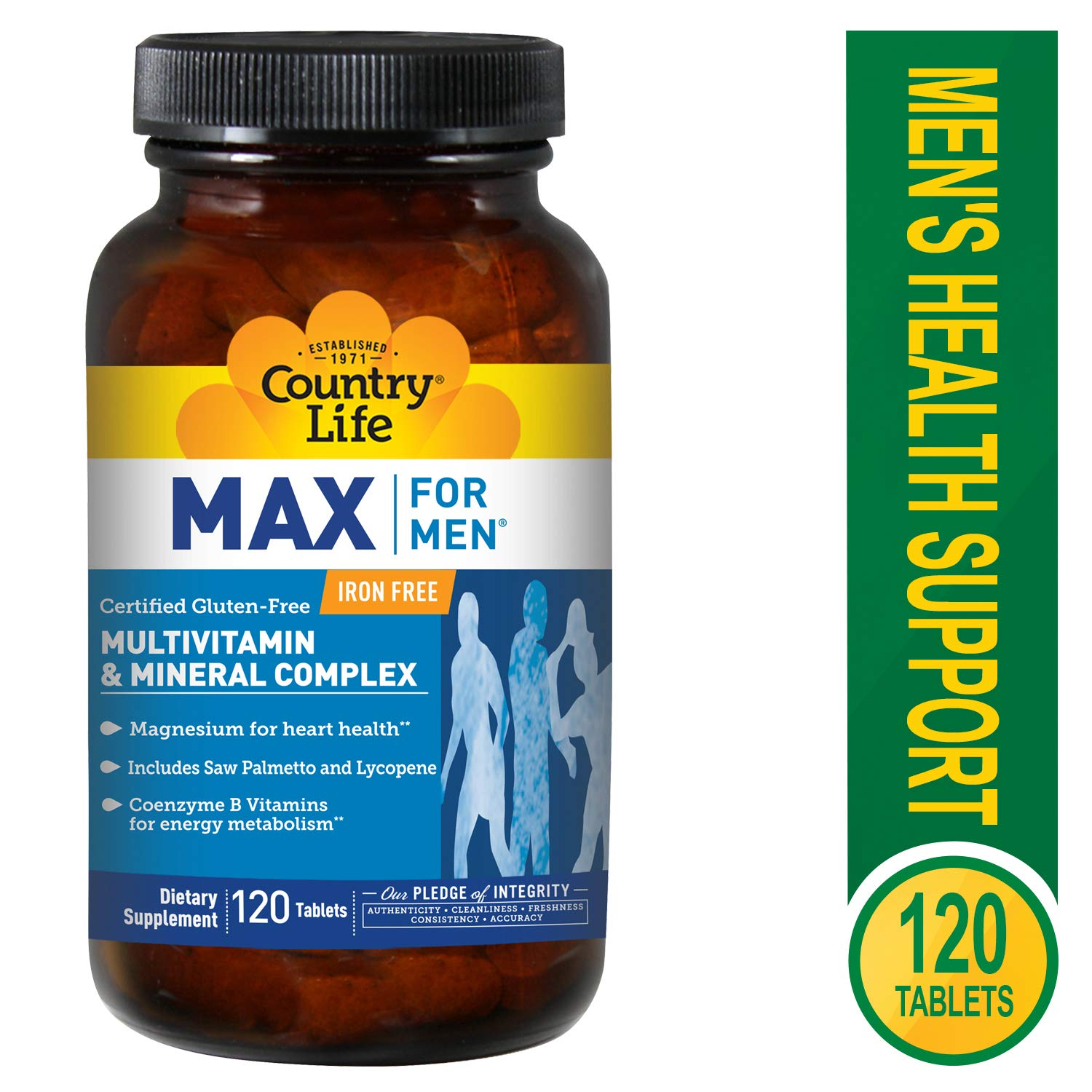 Country Life Max for Men Maxi-Sorb Multi-Vitamin Mineral, 120-Tablet