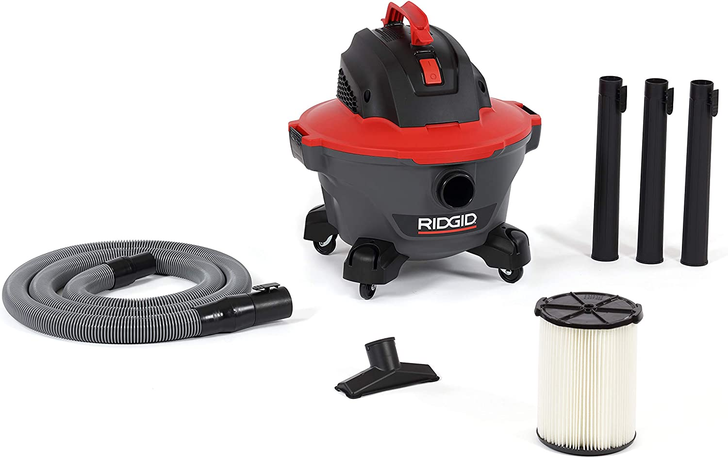 Ridgid 62698 Red 6 gallon RT0600 Wet/Dry Vacuum