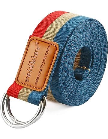 33154d6340 voidbiov D-Ring Buckle Yoga Strap 1.85 or 2.5M, Durable Cotton Adjustable  Belt