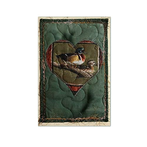 Amazon quilted fabric greeting card featuring male and female quilted fabric greeting card featuring male and female wood ducks free usa shipping appliqu collage m4hsunfo