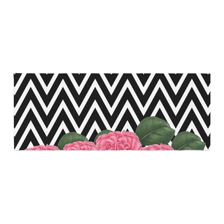 Kess InHouse Suzanne Carter Camellia Chevron Flower Bed Runner