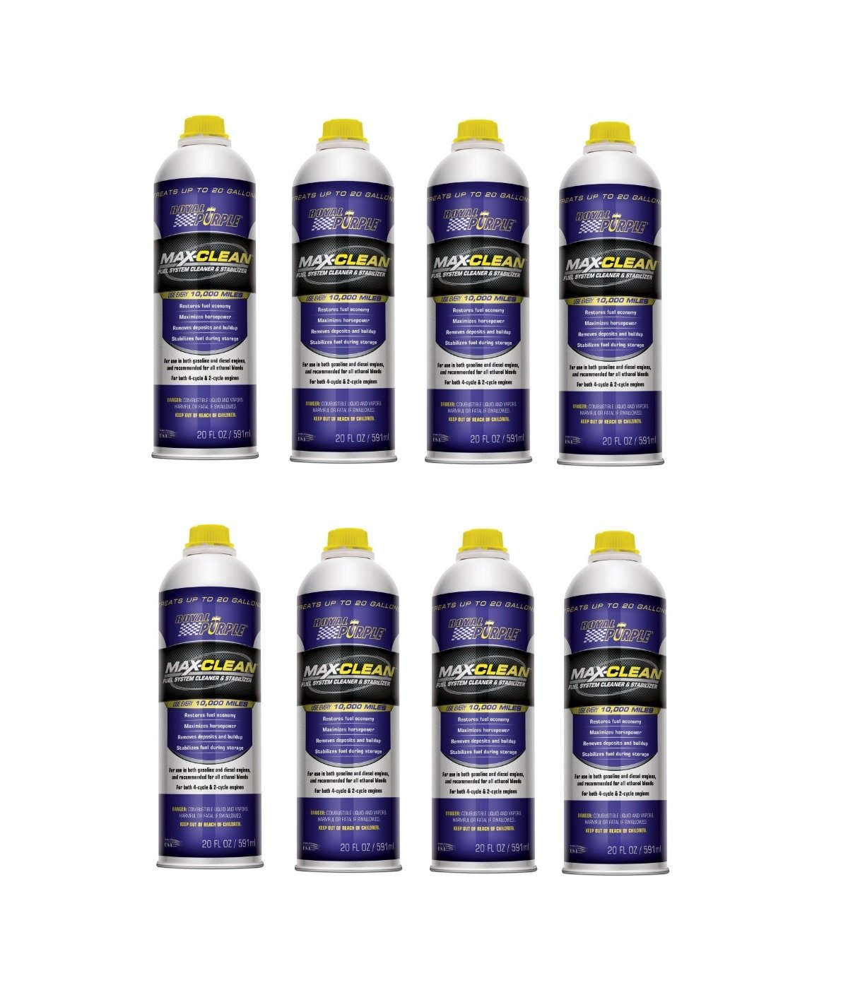 Royal Purple 11723 Max-Clean Fuel System Cleaner and Stabilizer - 20 oz. (Case of 8) by Royal Purple