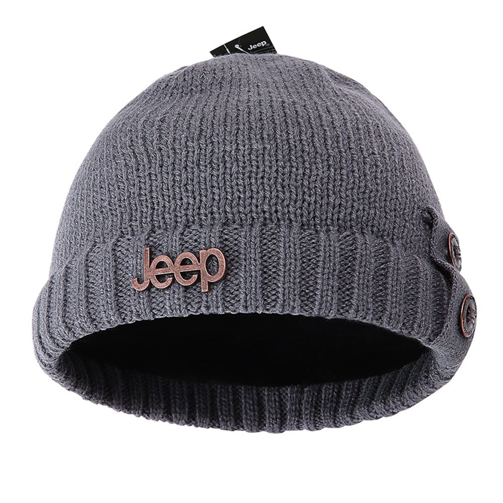 Jeep Thick Slouchy Knit Oversized Beanie Cap Hat
