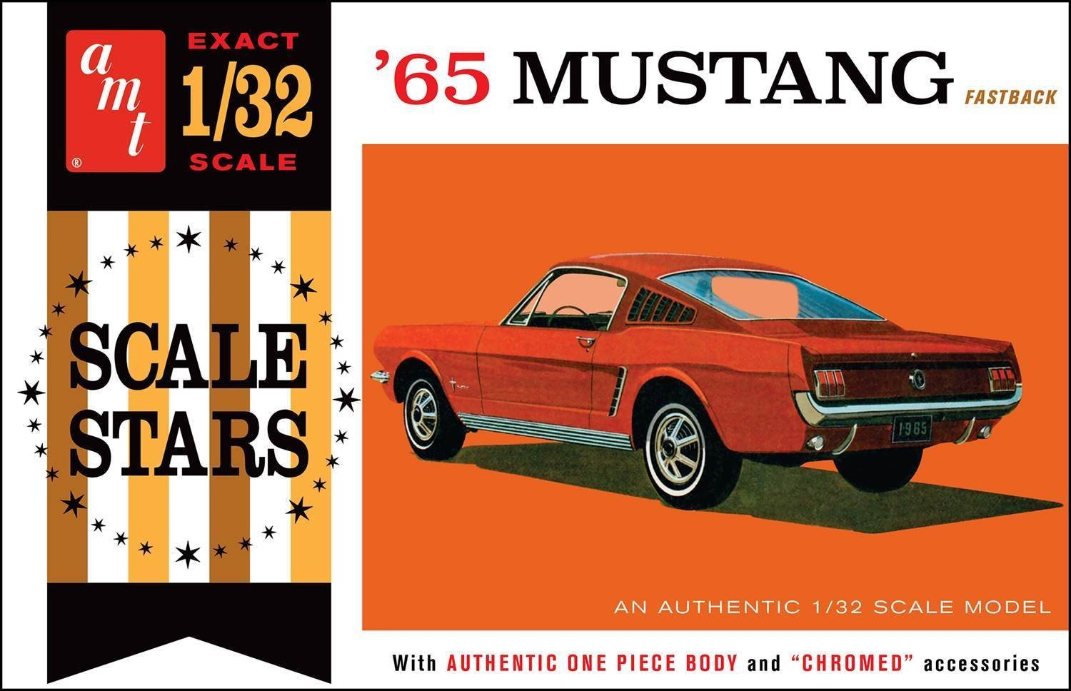 Amazon com amt amt1042 132 1965 ford mustang fastback scale toys games