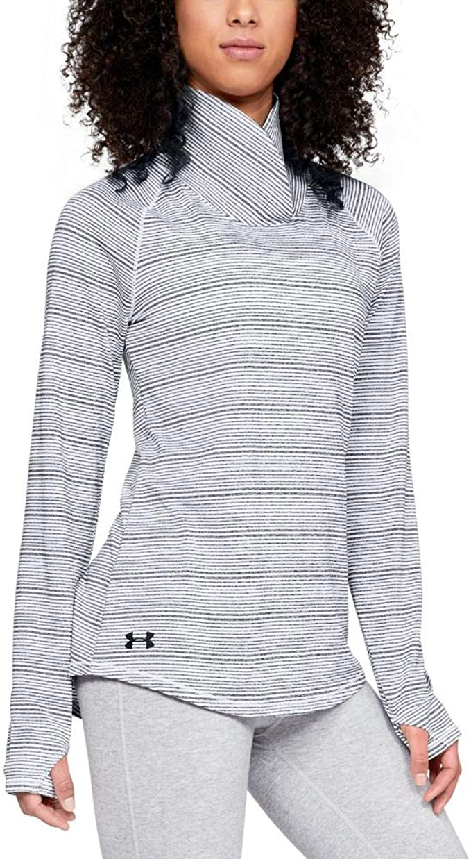 Under Armour UA Zinger Ladies Full Zip Top White Fitted Running Jacket L