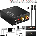 EMEBAY - Optical Coax Toslink Digital to Analog Converter Audio Adapter RCA LR Stereo AUX for PS3,PS4,Xbox,Blu-ray Player,DVD,Home Cinema Systems,AV Amps,ETC (Digital to Analog Converter)
