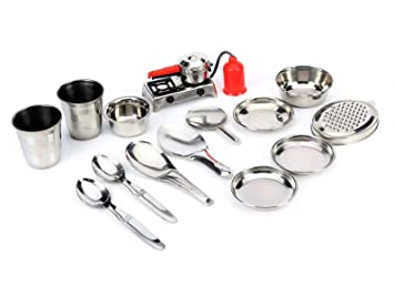 Buy Sunny Toys Star Toy Stainless Steel Kitchen Set Online At Low