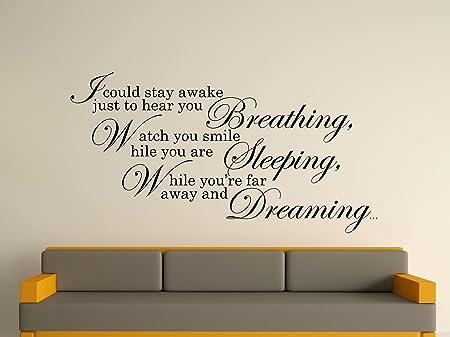 Song Lyrics Wall Art Sticker - Black, Large: Amazon.co.uk: Kitchen ...