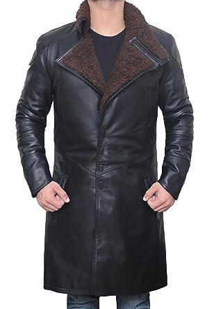 fc56f08dda9a Blingsoul Black Trench Leather Coat - Mens Elegant Genuine Leather Coat |  [1500322] Real