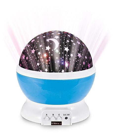 Ultra ® azul estrella de la pared noche luz cielo rotación luz ...