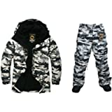 Southplay Mens Outwear Waterproof ski-Snowboard Light Military Jacket+Pants Set