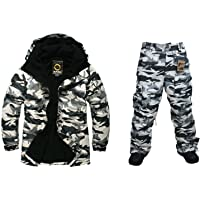 2c89746fe5 Southplay Mens Waterproof Light Military Design Ski-Snowboard Jacket+Pants  set