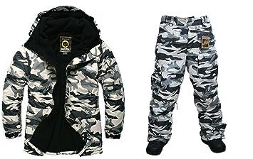 Southplay Chaqueta y pantalón de esquí-Snowboard de diseño Militar Impermeable para Hombre: Amazon.es: Deportes y aire libre