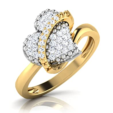 b863d397ae213 Buy CaratLane .925 Sterling Silver Gold Plated and Diamond Ring ...