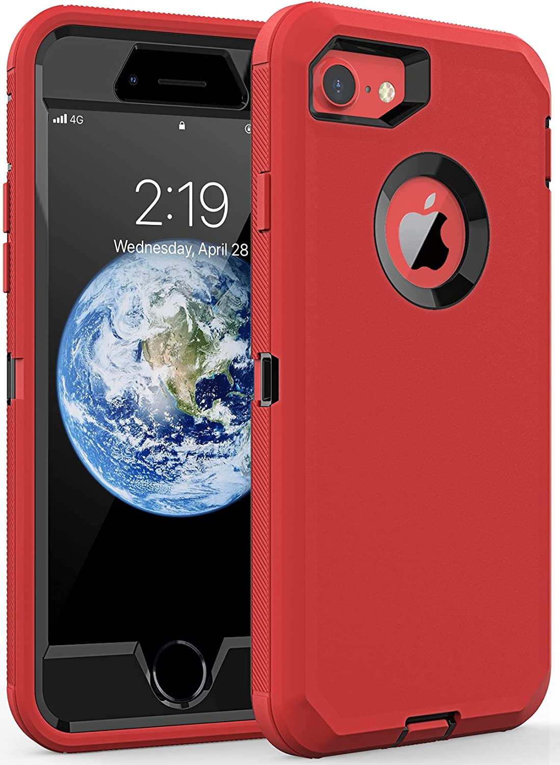 Comboproof Compatible with iPhone 8 case/iPhone 7 case,Shockproof case for iPhone 8/7(4.7 in) (Red)
