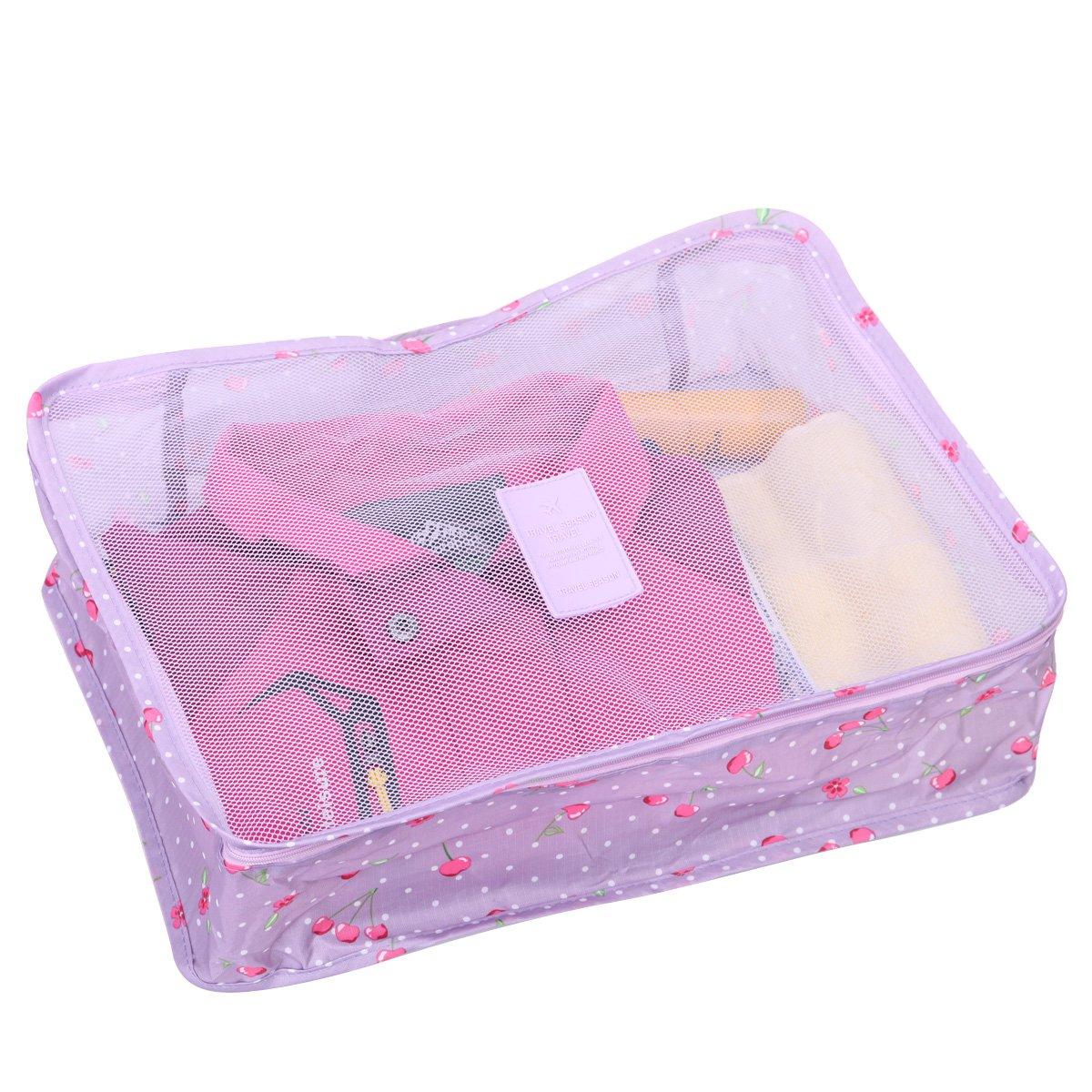 Eshow cajas de carton almacenaje con tapa multifuncional de poliester con gran tamano bolsos a mano para mujeres al viaje: Amazon.es: Hogar