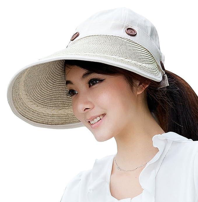 7fa74b23da2 Jemis Women s X-large Brim Sun Visor (beige) at Amazon Women s ...