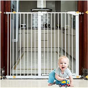 YONGYONG-Guardrail Puertas De Seguridad For Bebés Y Bebés Paseos Extra Anchos For Puertas Escalera Chimenea Cerca De Cierre Automático Cerca De Cocina A Prueba De Caídas Perforación Libre 1 M Altura: Amazon.es:
