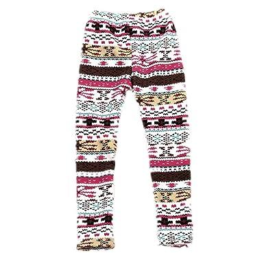 bff83cfa4dde1 Girls Winter Warm Thick Leggings Fleece Lined Kids Trousers Pants Age 2-7Y:  Amazon.co.uk: Clothing