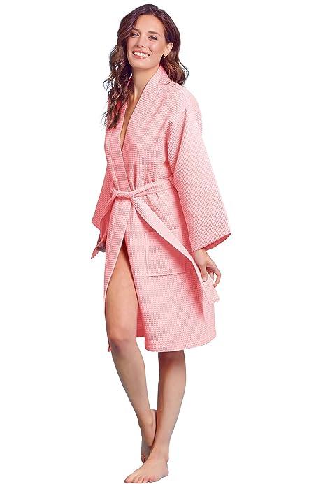 Luxurious Soft Absorbent Lightweight Long Kimono Waffle Spa ...