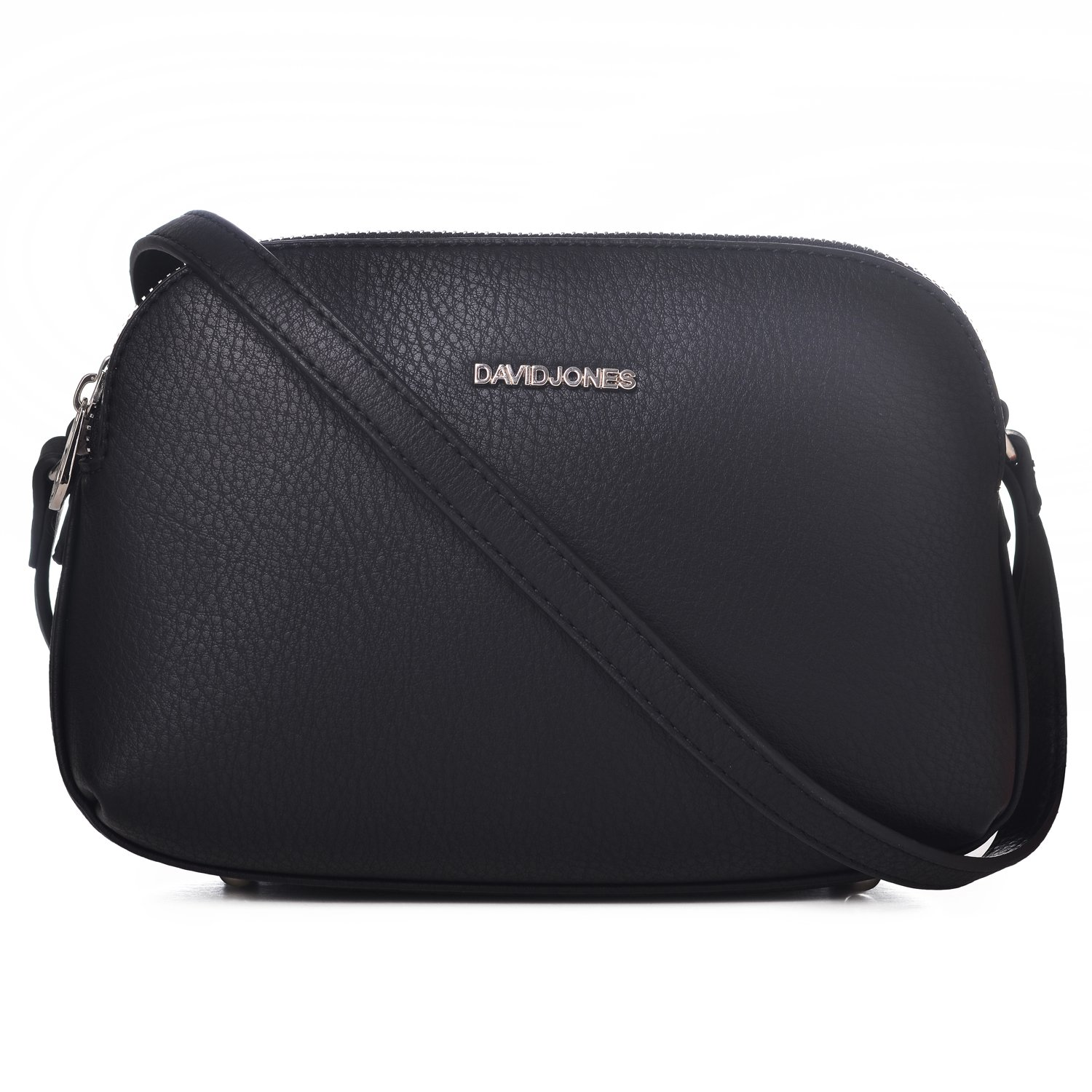 8582e877ae31 DAVID - JONES INTERNATIONAL Womens Black Leather Crossbody Saddle Purse  Designer Multi Zipper Handbags  Handbags  Amazon.com