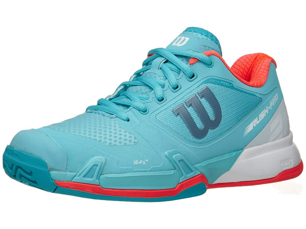 Wilson Women's Rush Pro 2.5 Blue Curacao/White/Fiery Coral 9 B US
