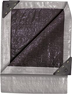 product image for 10-Foot by 10-Foot Double Duty Tarp, Silver/Black