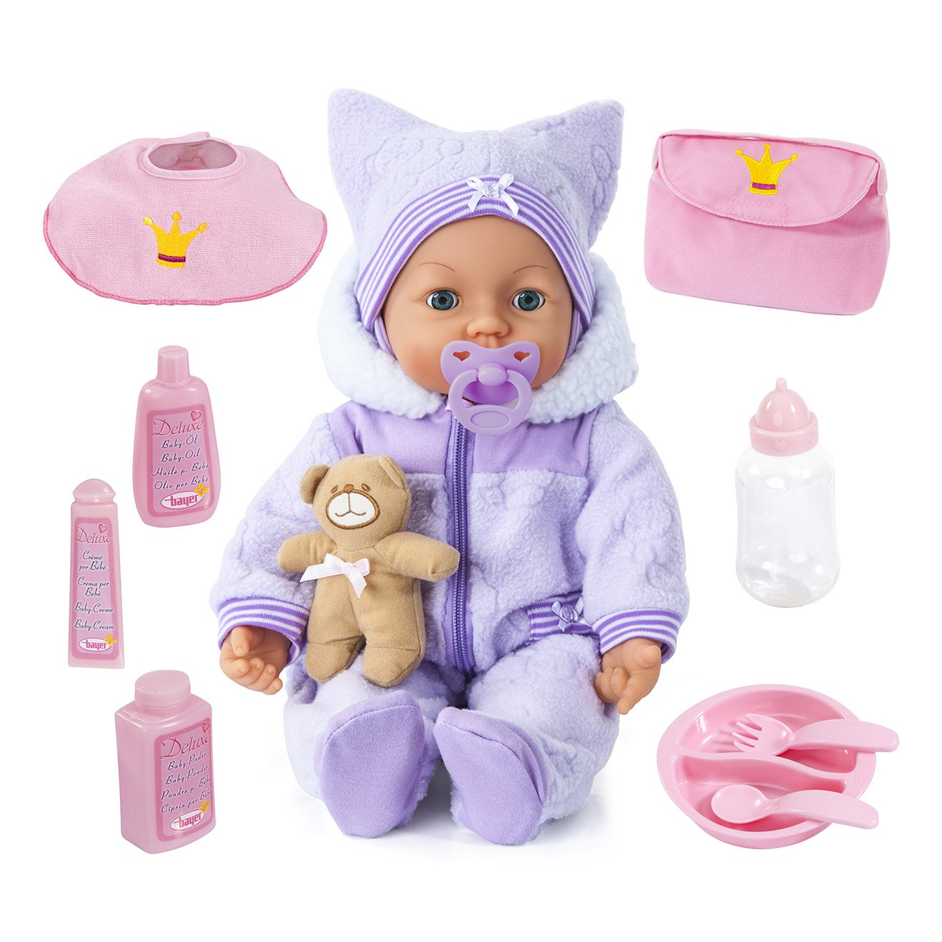 100% garantía genuina de contador Bayer Design - - - Muñeca bebé Piccolina Magic Eyes con cuerpo blando (94694AA)  clásico atemporal