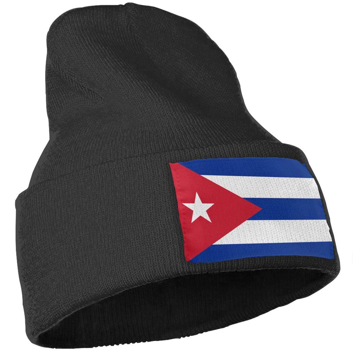 COLLJL-8 Men//Women Cuba Flag Outdoor Fashion Knit Beanies Hat Soft Winter Skull Caps
