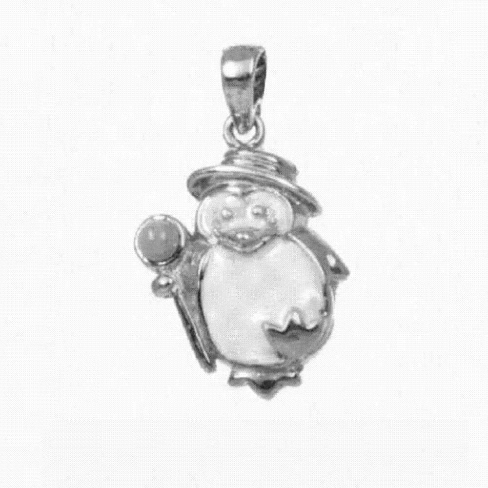 Made in USA Sterling Silver BABY PENGUIN Pendant 18 Italian Box Chain