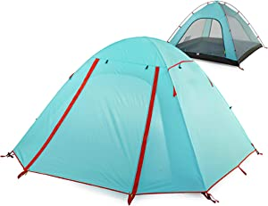 TRIWONDER 2-3-4 Person Camping Tent 3 Season Double Doors Lightweight Waterproof Double Layer Backpacking Tent for Camping Hiking