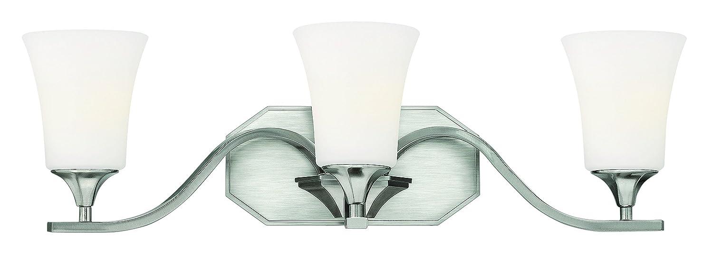 Hinkley照明5363 3ライト24.25」横幅浴室洗面化粧台ライトBrantlから、 24.25 in. W x 8.5 in. D x 7.25 in. H 5363BN 1 つや消しニッケル つや消しニッケル B0071NYVQ8