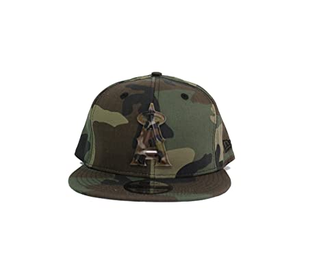 New Era Anaheim Angels 9Fifty Army Camo Capped Adjustable Snapback Hat 2fcec27440b