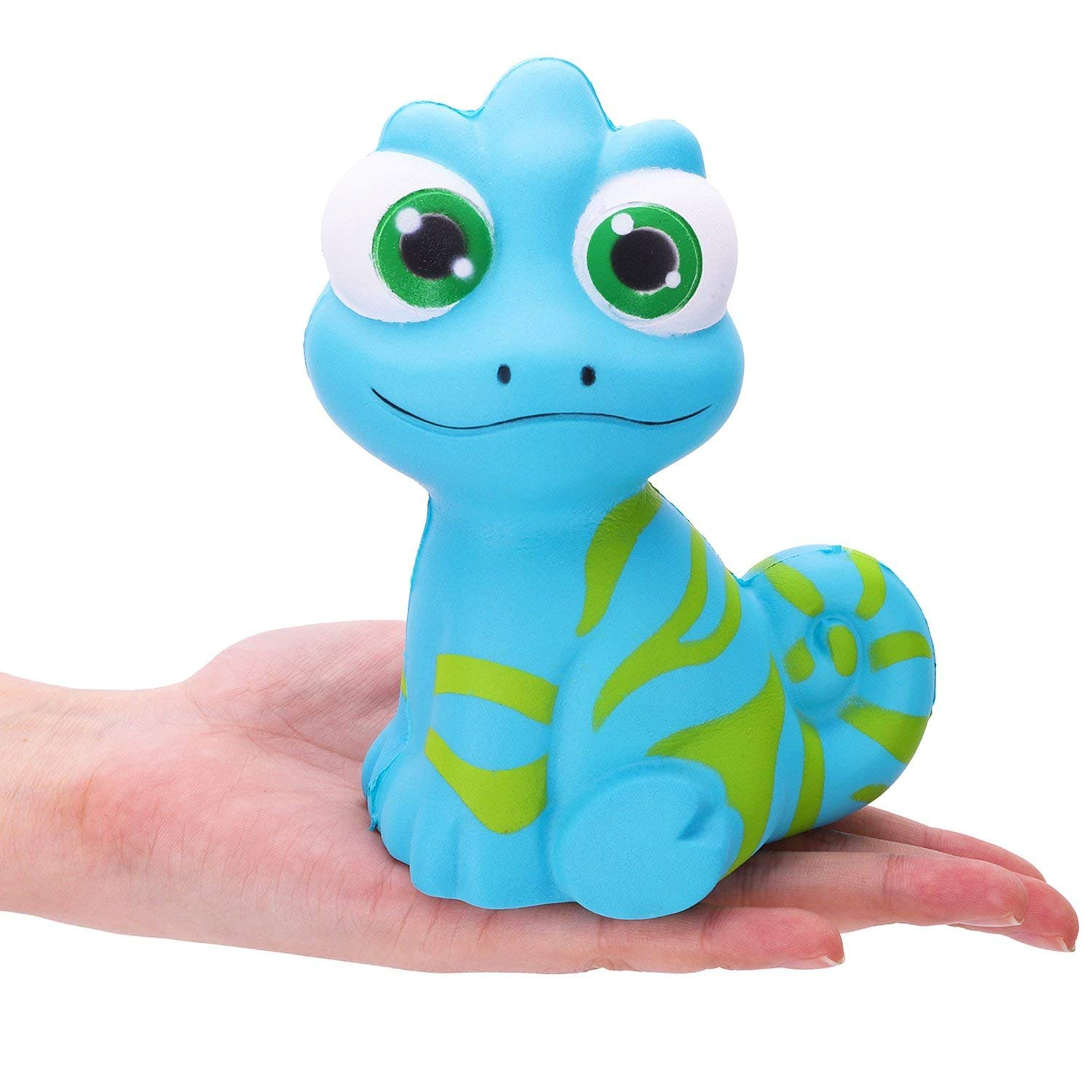 R.Horse Squishy Kawaii Cute Chameleon Cream Scented Squishies Slow Rising Kids Toys Doll Stress Relief Toy Hop Props, Decorative Props Large (Cute Chameleon)