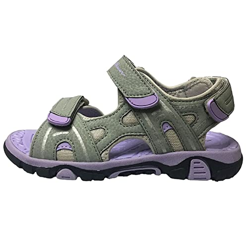 e171d19e6bb4 Eddie Bauer Grey Purple Girls  River Sandal ...
