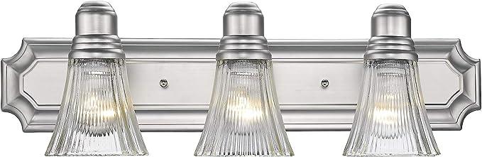 Odeums Classic Bathroom Vanity Lights Interior Wall Sconce 3 Lights Bath Lighting Fixture Modern Home Bathroom Lighting In Satin Nickel Finish Amazon Com