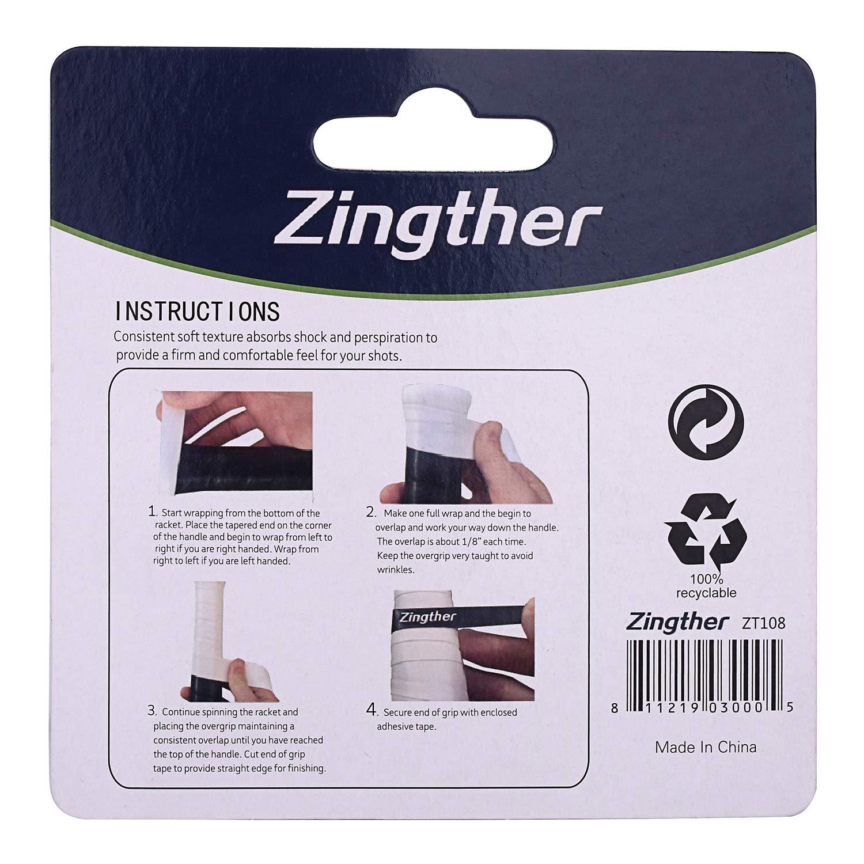 Amazon.com : Zingther Professional Premium Super Tacky Self-Adhesive Grip Overgrip Tape for Tennis Racket, Squash Racquet, Badminton Raquet, ...