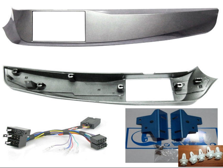 G.M Production Kit fa/çade et commandes au volant Adaptateur double DIN Alfa Giulietta Silver int/érieur, dimension verticale maximale 101/mm