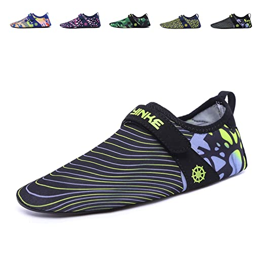 Men Women and Kids Quick-Dry Water Shoes Aqua Socks For Beach Swim Surf Yoga Exercise