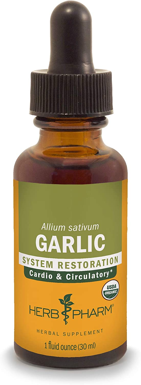 Herb Pharm Certified Organic Garlic Liquid Extract for Cardiovascular and Circulatory Support - 1 Ounce: Health & Personal Care