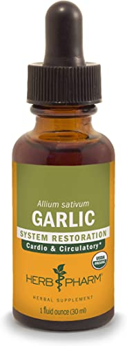 Herb Pharm Certified Organic Garlic Liquid Extract for Cardiovascular and Circulatory Support – 1 Ounce