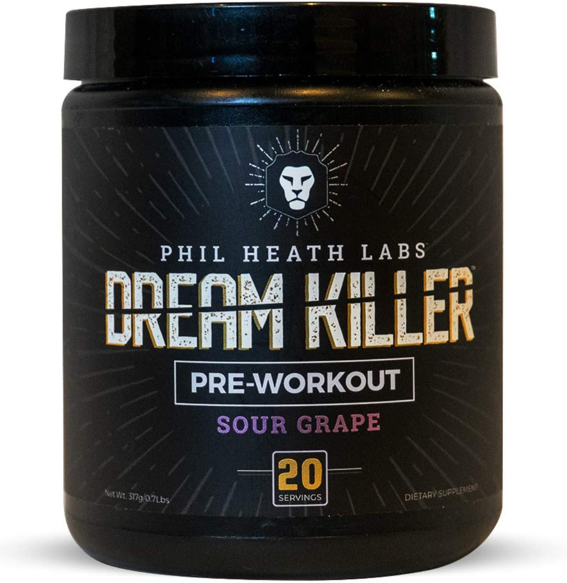 Phil Heath Labs All Natural DreamKiller Preworkout Supplement for Energy Pump Focus – Teacrine Creatine Beta Alanine Caffeine 20 Servings