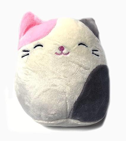 Squishmallow 5 Inch Pink and Grey Cat Plush Super Soft Squishy Stuffed Animals Age 0+ (Karina The Cat)