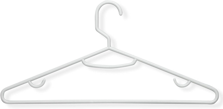 60-Pack Honey-Can-Do HNGT01195 Lightweight Tubular Hangers White